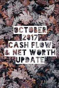 October 2017 Cash Flow & Net worth Update